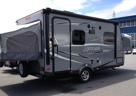 Hybrid camping trailer