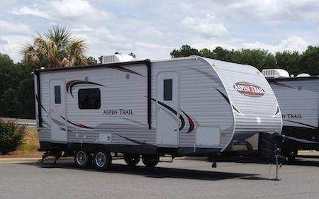 Bumper pull style camper