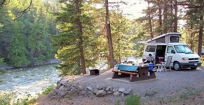 Campsite near Whistler, British Columbia