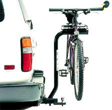 Bike carrier on hitch with bike