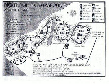 map of Pickensville Campground