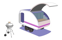 teardrop camper graphic