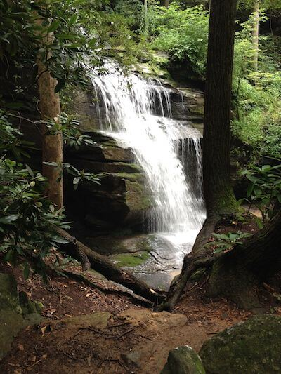 A waterfall in North Carolina