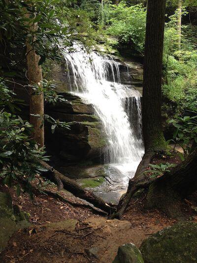 A waterfall in North Carolina